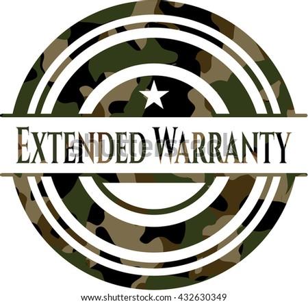 Extended Warranty camo emblem