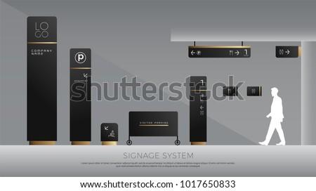 exterior and interior signage