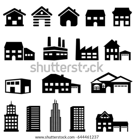 Exterior architecture of buildings and houses