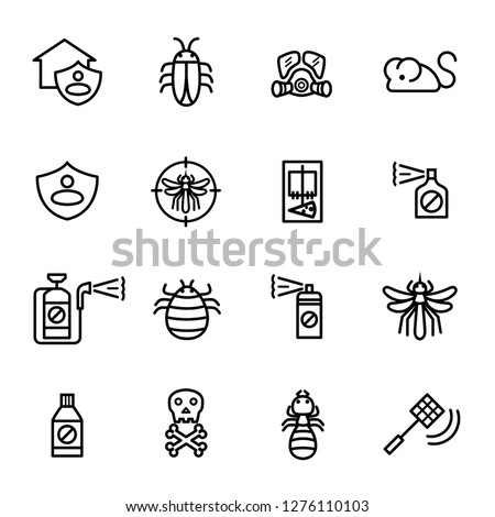 Exterminator, Pest control icon set