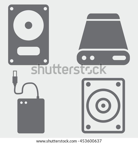 external hard drive icons
