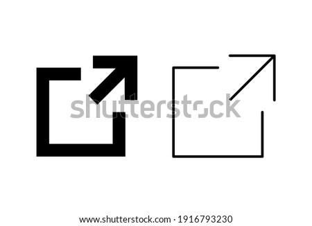 External link icon set. link icon vector. hyperlink symbol