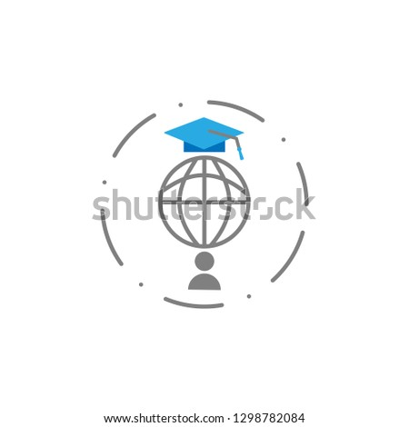 External student icon. Element of education icon for mobile concept and web apps. Detailed External student icon can be used for web and mobile