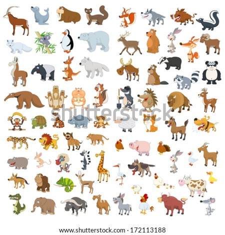 extra big vector animals and