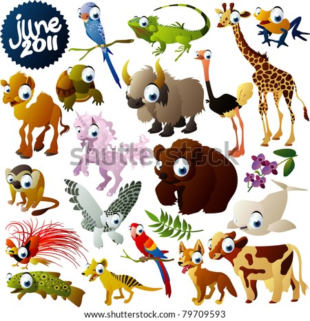 extra big vector animals set