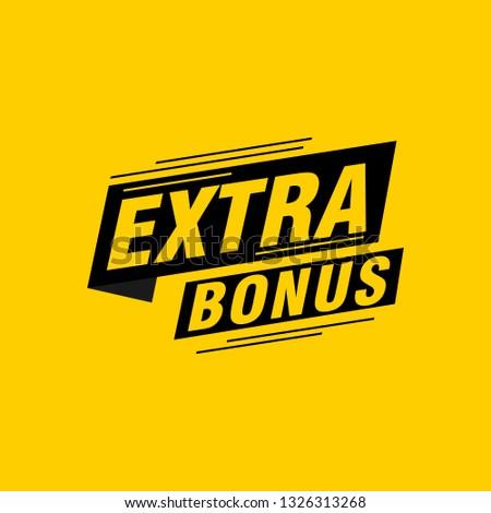 Extra bonus labels banners ストックフォト ©