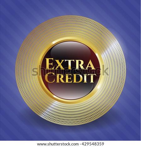 Extra Credit golden emblem or badge