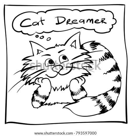 extra happy dreamer cat smiley