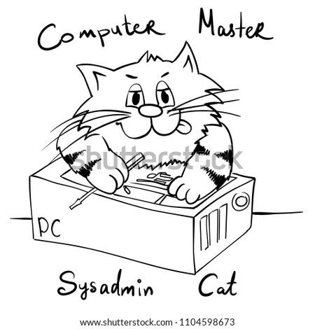 extra happy sysadmin cat
