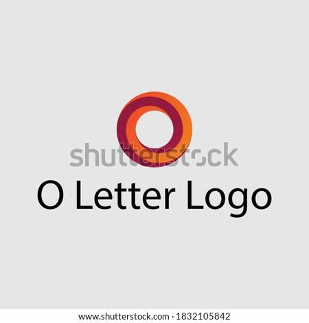 Extra Modern O  letter logo vector .eps Foto stock ©