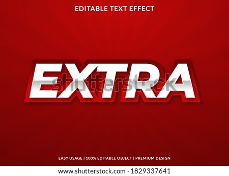 extra text effect template with bold and 3d style use for business logo and brand ストックフォト ©