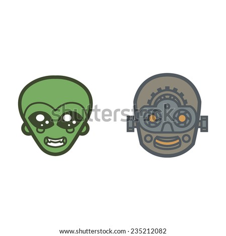 extraterrestrial and robot
