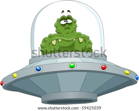 Extraterrestrial in a flying saucer