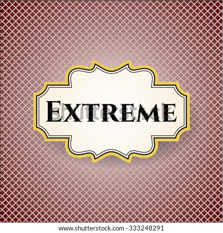extreme card or poster