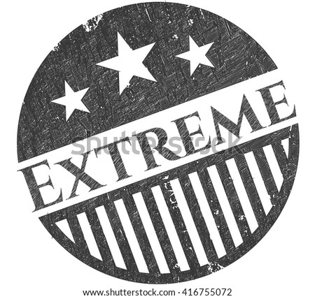 Extreme emblem draw with pencil effect