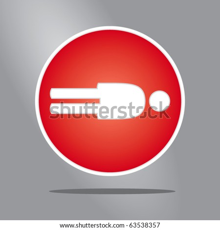 Extreme human sign - stock vector