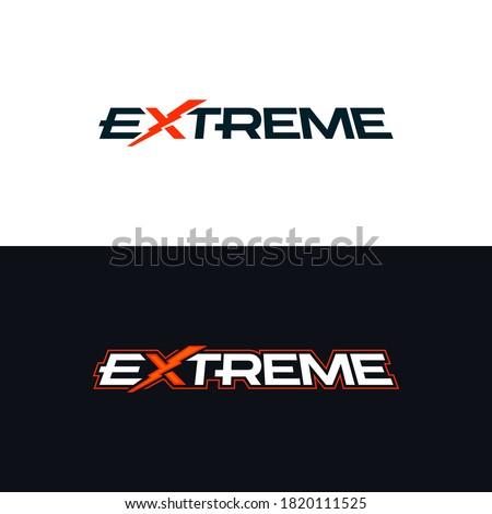 Extreme logo. Logotype with the word extreme. Vector design ストックフォト ©