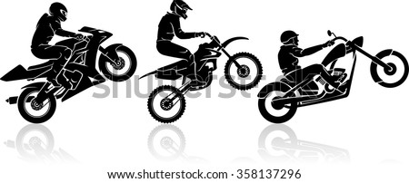 extreme motorbike rider