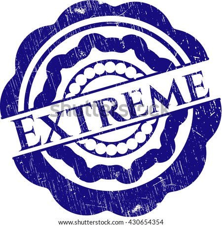 Extreme rubber stamp with grunge texture