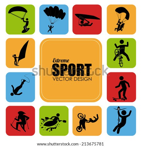 Extreme sport design over white background,vector illustration