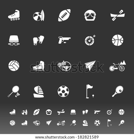 Extreme sport icons on gray background, stock vector