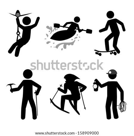extreme sport over white background vector illustration