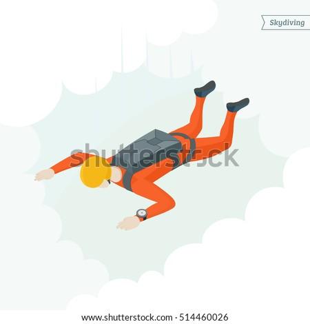 extreme sport parachuting