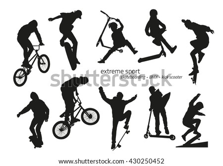 extreme sport silhouette