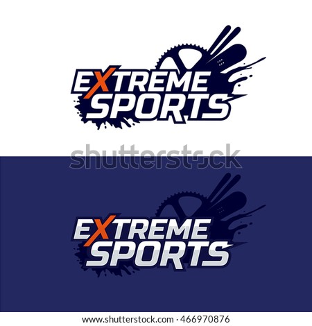 extreme sports logo snowboard
