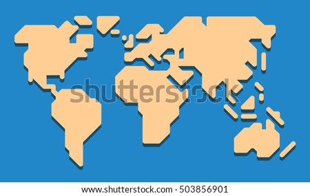 extremely simplified world map
