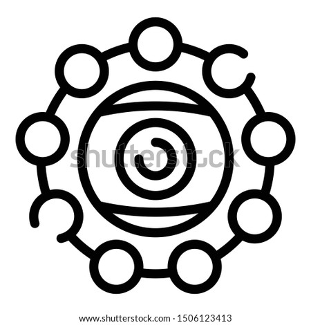 Eye alchemy icon. Outline eye alchemy vector icon for web design isolated on white background