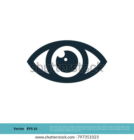 Eye Ball Icon Vector Logo Template