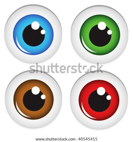 Eye balls vector. In my gallery also available XXL jpeg image made from this vector