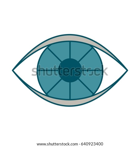 eye color icon flat vector