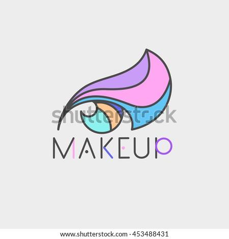 eye colorful logo make up thin