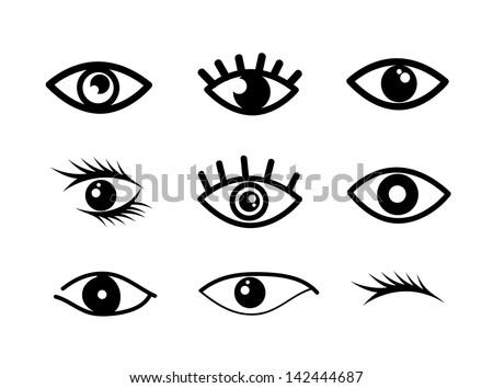 eye designs over white