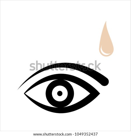 Eye Drop Icon Vector Art Illustration