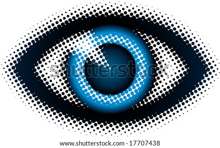 eye (from dots design series) - stock vector