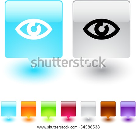 Eye glossy square web buttons.
