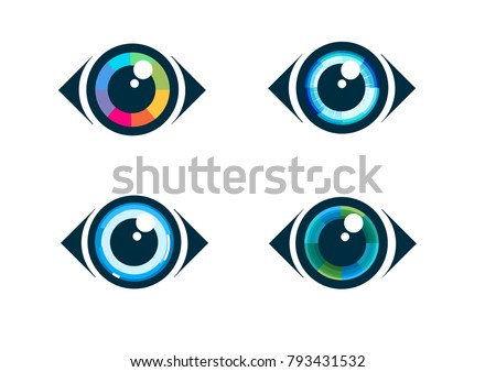 Eye icon - eye symbol vector.  Flat eye icons