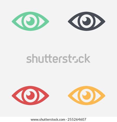 eye icon flat design style