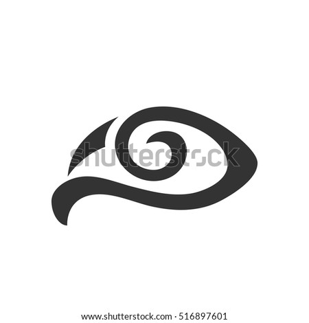 eye icon isolated on white