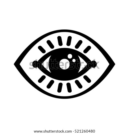eye icon isolated on white