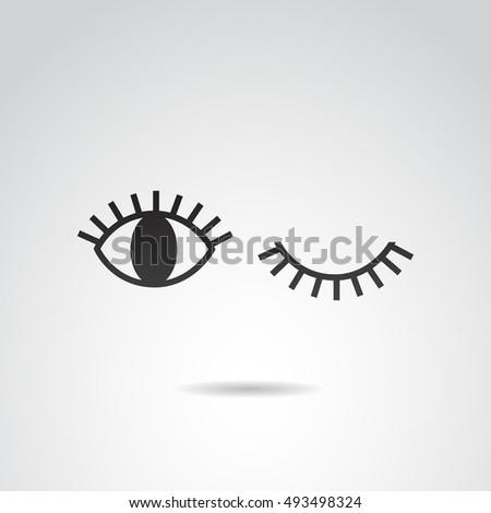 Eye icon isolated on white background. Vector art.