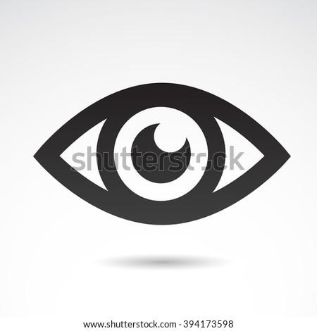 Eye icon isolated on white background. Vector illustration.