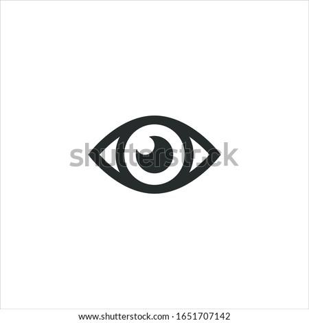 Eye icon sign flat. illustration