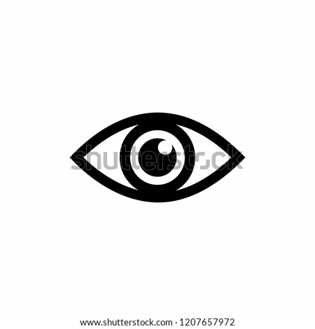 eye icon symbol vector