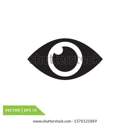Eye icon vector flat style