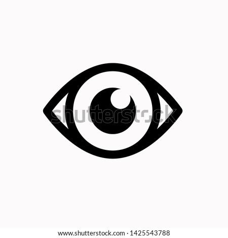 Eye icon,vector illustration. Flat design style. vector eye icon illustration isolated on White background, eye icon Eps10. eye icons graphic design vector symbols.
