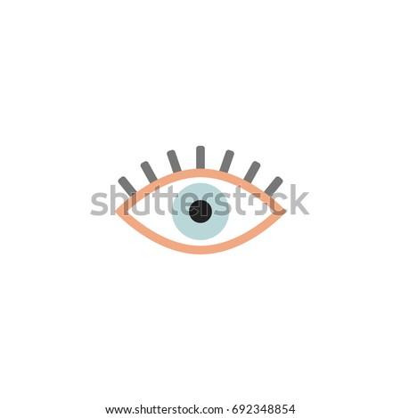 eye icon vector isolated